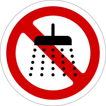 dilarang mandi