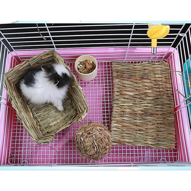 tempat tidur bahan kayu daur ulang kelinci
