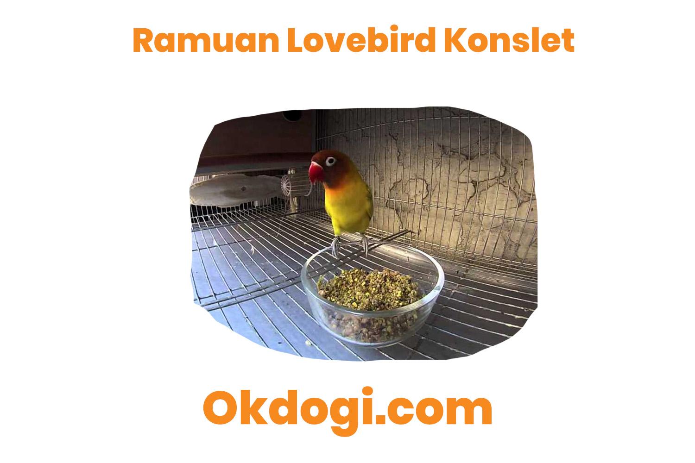 ramuan makanan burung lovebird